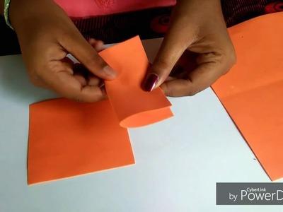 Paper flower craft.பேப்பர் பிளார் கிராப்ட் ( part 1)