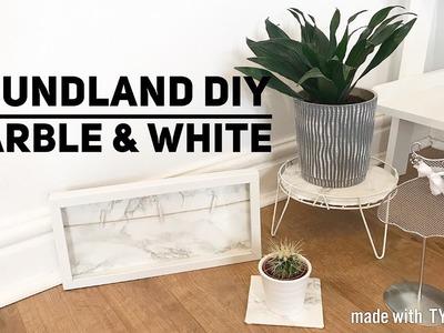 POUNDLAND DIY | MARBLE & WHITE | PINTEREST | QUICK & EASY | CARLY JADE DRAKE