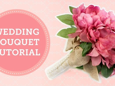 Silk Flowers Wedding Bouquet Handle DIY | BalsaCircle.com
