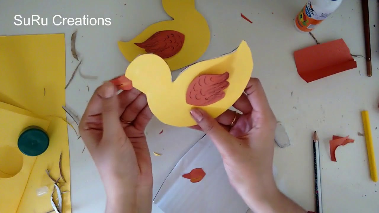 Simple DIY Paper Duck Craft | How to Make a Paper Duck Tutorial