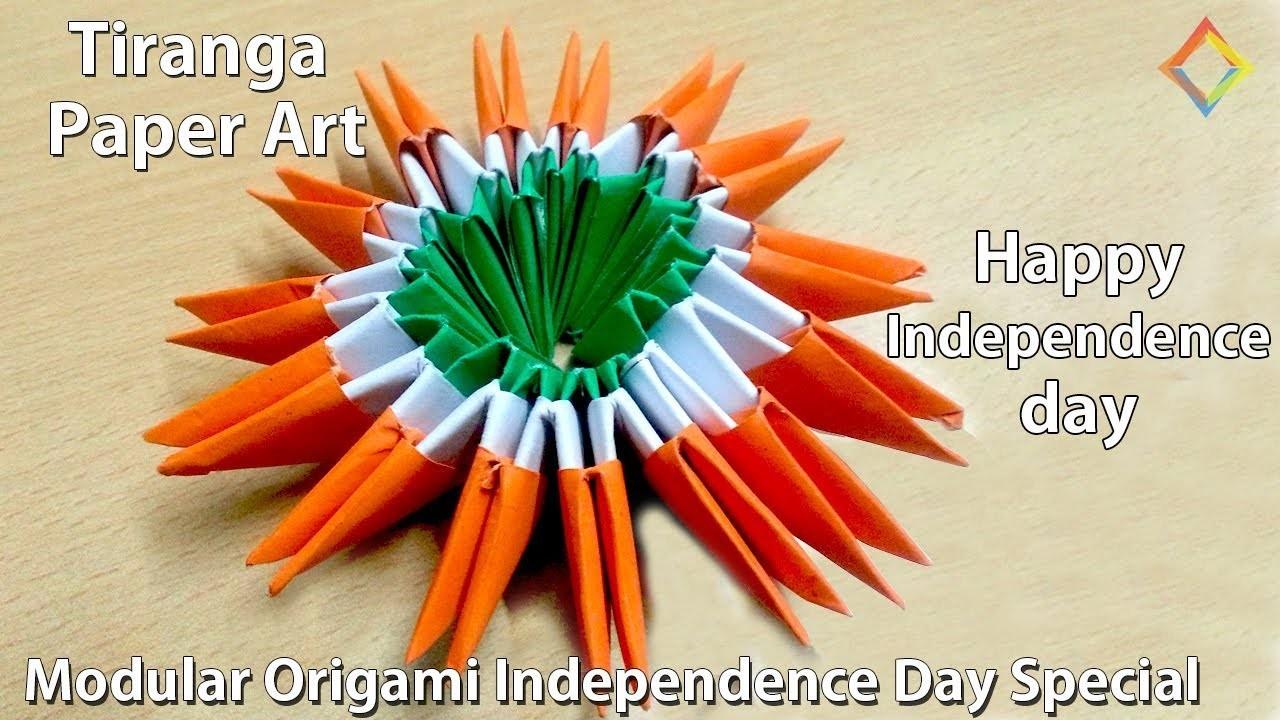 tiranga paper art modular origami special independence
