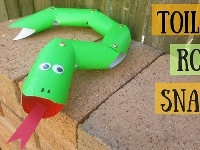 Wriggly Toilet Paper Roll Snake | Toilet Paper Roll Crafts for Kids
