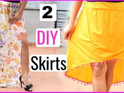 2 Easy DIY Skirts Using Old SAREE - Step By Step for Beginners | Shruti Arjun Anand