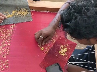 Beautiful sugar bead work on a crop top