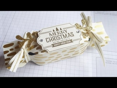 Christmas Countdown  Project No. 3 - Ferrero Rocher Christmas Bonbon Wrapper.Box - Stampin' Up!