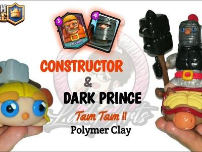 Constructor & Dark Prince | Clash Royale | Polymer Clay Tutorial