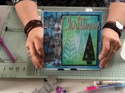 Crafter's Companion - Sheena Douglass- Christmas word dies card demo