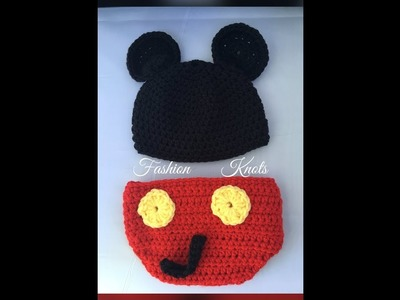 Crochet: Mickey Mouse Diaper Cover Set {Part 1}