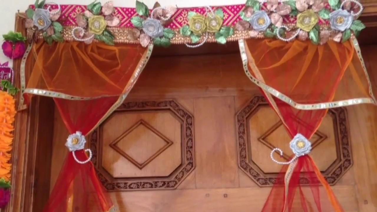 Diwali.christmas decoration ideas | flower toran| how to make door hanging |diwali toran diy|kk42