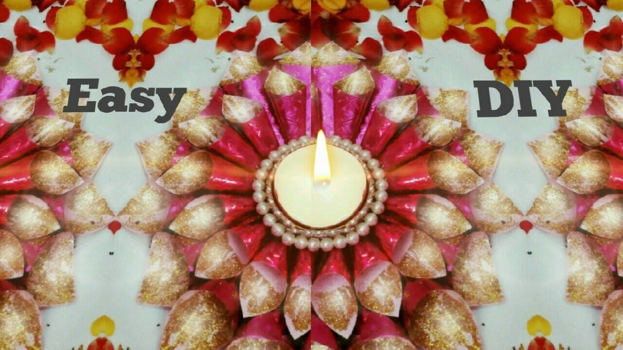 Diwali Diya Decoration Ideas At Home 1 Diy Easy Diya Decoration Christmas Candle Holder Ideas My