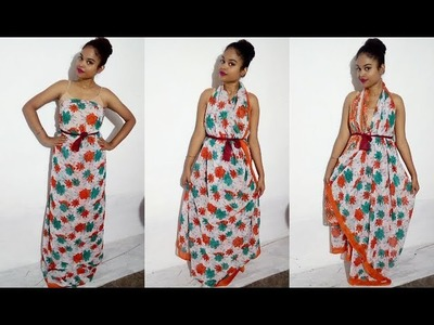 DIY : 5 Seconds Saree Dresses ( No Sewing , No Cutting )