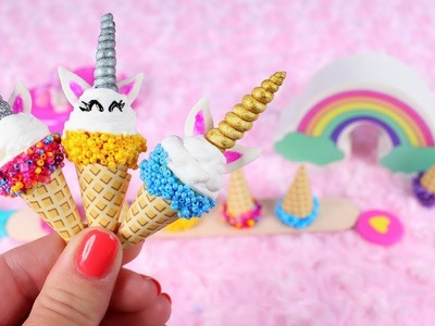 DIY American Girl Unicorn Ice Cream Cones