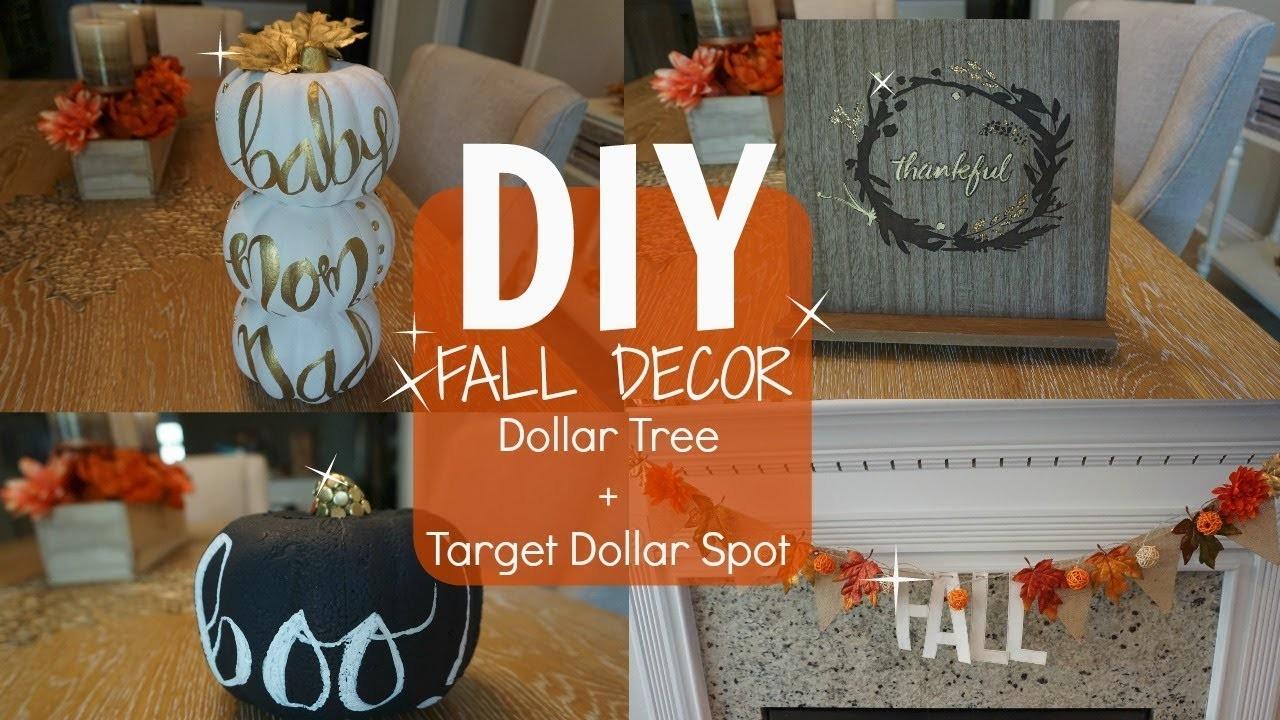 DIY FALL DECOR - PART 1. DOLLAR TREE & TARGET DOLLAR SPOT