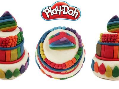 DIY Giant Play Doh Rainbow Cake DIY How to Make Play Doh Rainbow Cake Making Colorful Birthday Cake