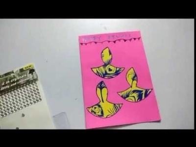 DIY happy Diwali Greeting Card Simple and easy | how to make diwali greeting card