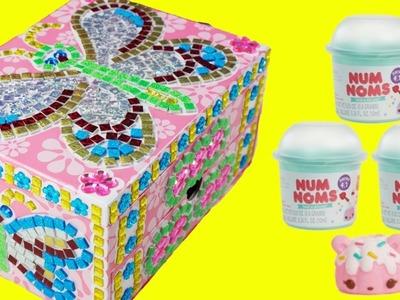 DIY Jewelry Box Sticky Mosaics and Num Noms Glitter Gloss and Nail Polish