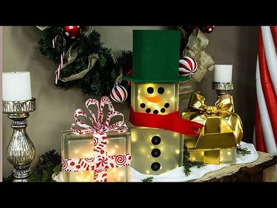 DIY Lighted Glass Box Snowman - Home & Family