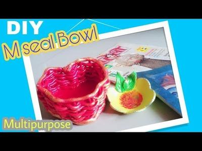 DIY M seal Bowl.  Shilpkar Craft Ideas.  Jewellery Bowl
