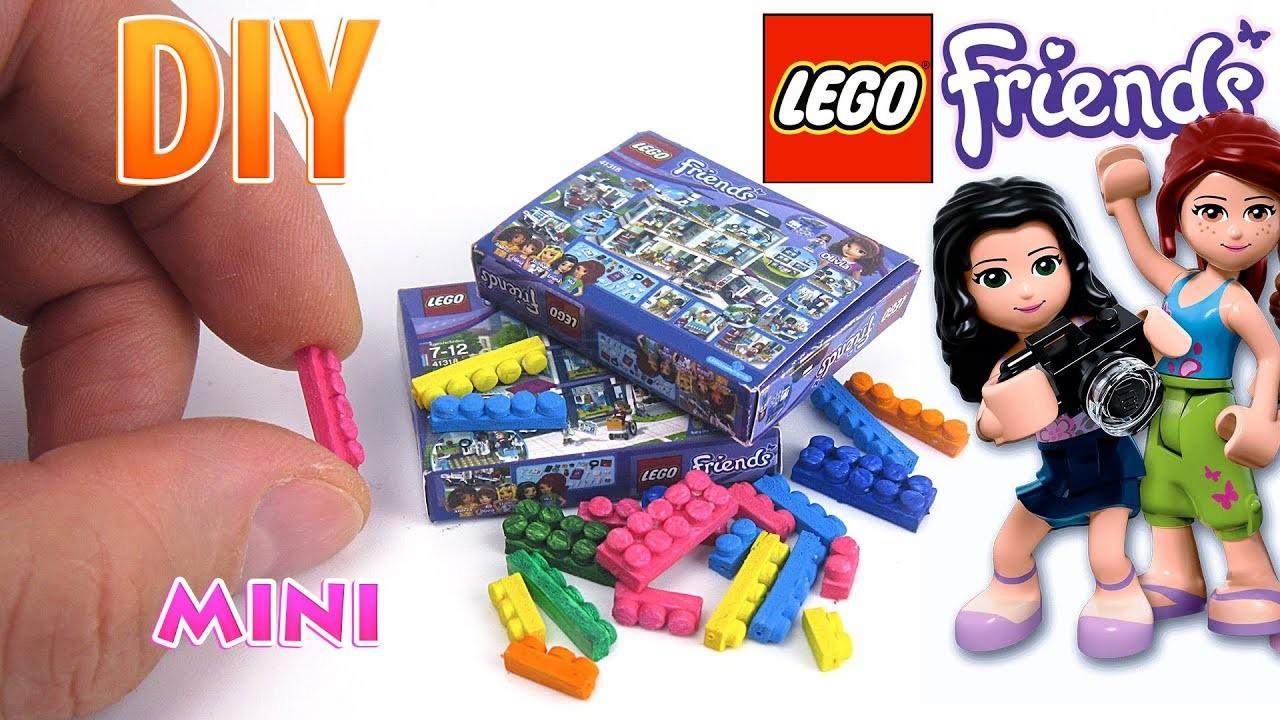 DIY Miniature Lego Friends set | DollHouse | No Polymer Clay!