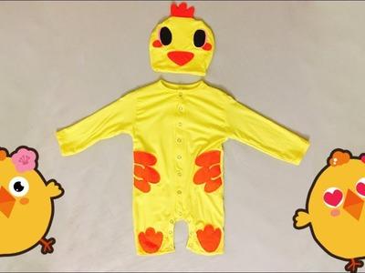 DIY - Sewing Baby Chicken Bodysuit With Hat (Part 2.2: Sew Bodysuit)