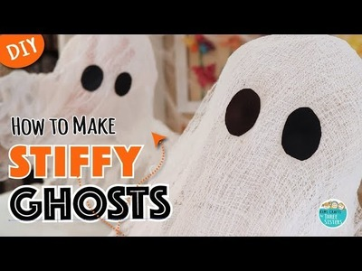 Easy Halloween Decor for Kids  | DIY Cheesecloth Ghosts | Mod Podge