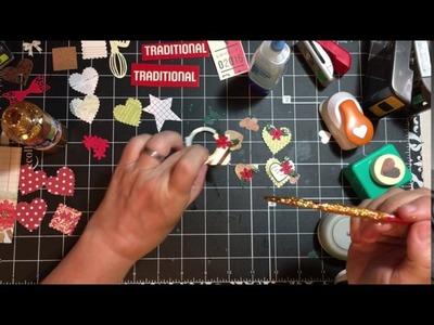 Embellishments - Little flowers make a big impression - Christmas in July | dearjuliejulie