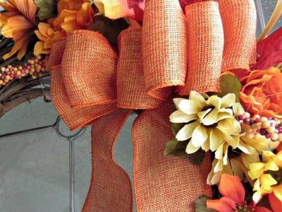 Fall DIY & Decor Challenge 2017 {$5 Fall Grapevine Wreath}