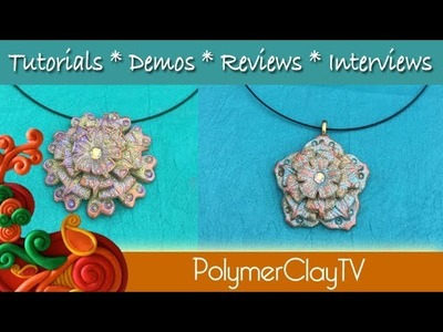 Fun Easy and Beautiful Polymer Clay Flower Pendants