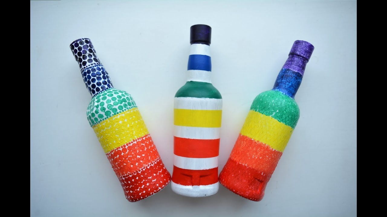 Glass bottle craft ideas diy bottle decoration ideas for Glass bottle project ideas