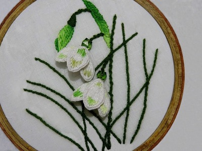 Hand Sewing Design of Stump Work on Beautiful Flowers