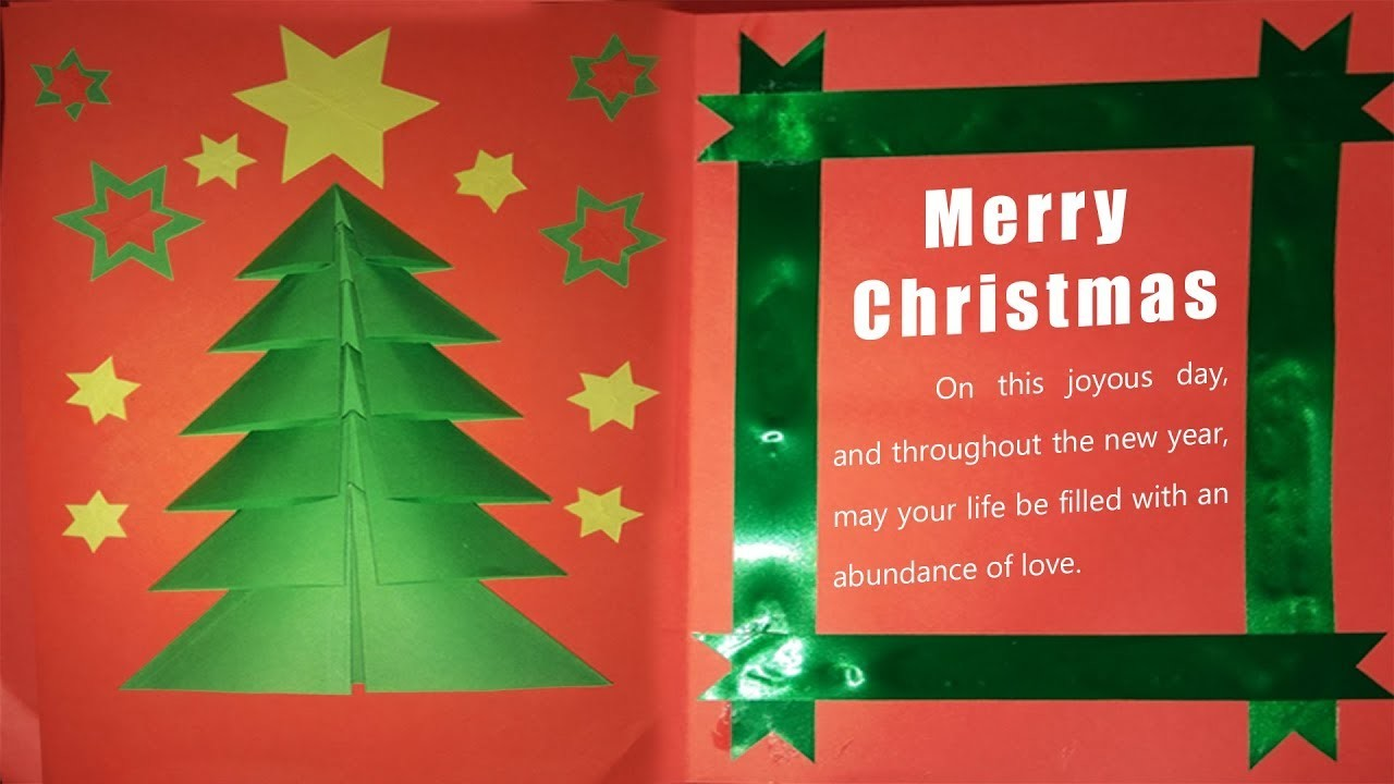 Christmas Greeting Card Ideas.Handmade Christmas Greeting Card Making Ideas Christmas