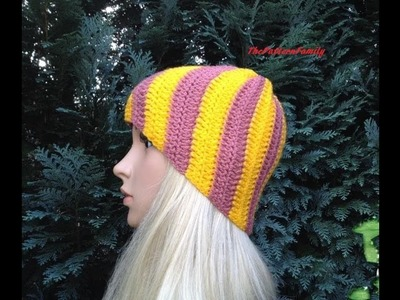 How to Crochet a Beanie Hat Pattern #34│by ThePatternfamily
