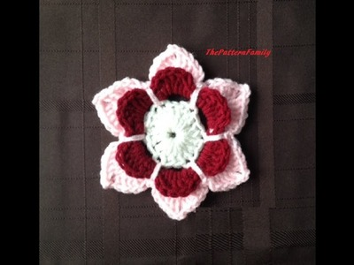 How to Crochet a Flower Pattern #30│by ThePatternfamily