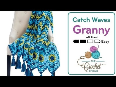 How to Crochet Wave Afghan: Granny Waves
