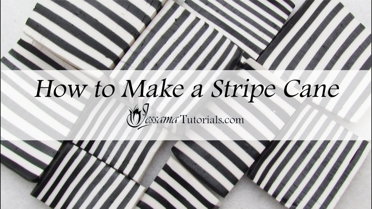 How to Make a Polymer Clay Stripe Cane