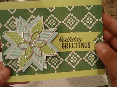 How to make a quick and easy Birthday card with Quilted Christmas suite