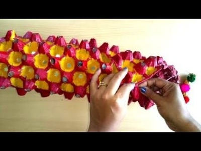 HOW TO MAKE  EGG TRAY.EGG CARTON WALL HANGING.LAMP.WIND CHIME.LANTERN- DIWALI DECOR-KUTCHI STYLE