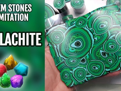 How to Make Faux Malachite stone from Polymer Clay
