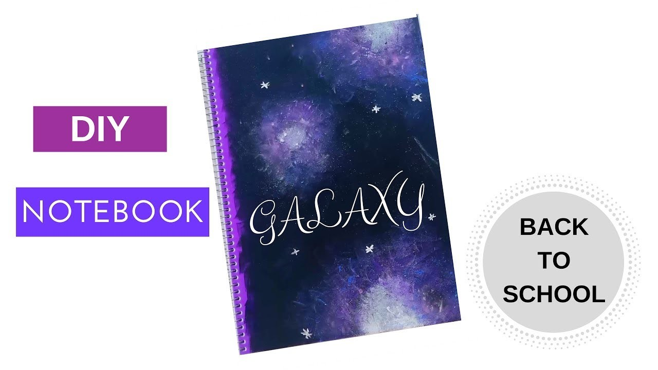 How to make GALAXY NOTEBOOK | Speedpainting Galaxy| DIY