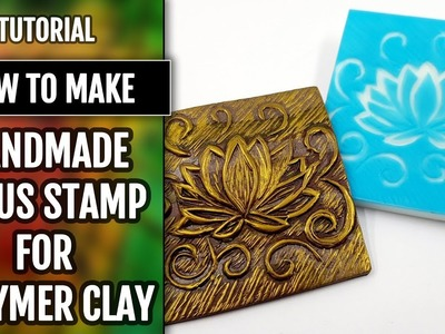 How to Make Hand Carved Rubber Lotus Stamp for Polymer Clay!