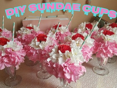 How To Make Ice Cream Sundae Centerpieces DIY Birthday Decor | Ice Cream Theme Birthday Party