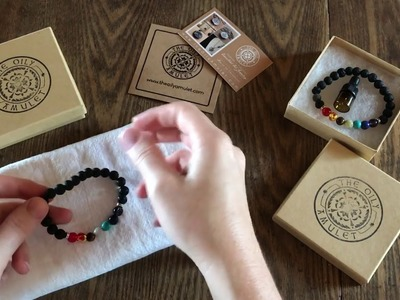 How-to: Using a Lava Bead Diffuser Essential Oil Bracelet featuring Chakra Lava Style