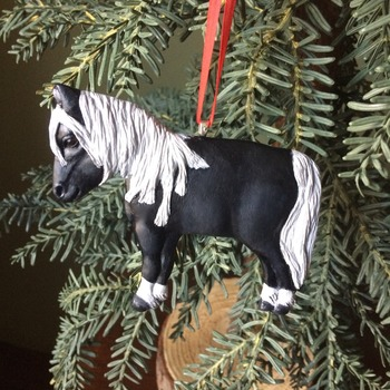 Little Pony ~ Handmade/Hand Painted ornament in Polymer Clay