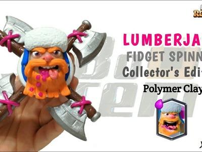 LUMBERJACK FIDGET SPINNER   Clash Royale   Polymer Clay Tutorial