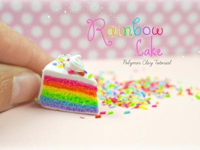 Mini Rainbow Cake Polymer Clay Tutorial