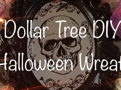 NEW Dollar Tree DIY -  Spooky Halloween Wreath - Quick and Easy