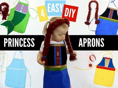 No-Sew DIY Princess Apron | Easy Toddler Costume