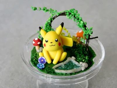 Pikachu Terrarium in a Mini Cake Stand ♥ Polymer Clay Tutorial