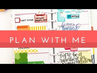 Plan With Me: August 17-21, 2017 {mini Happy Planner® + Rainbow Style!}
