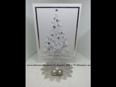 """""""Ready for Christmas"""" tree card stampin up 2017"""